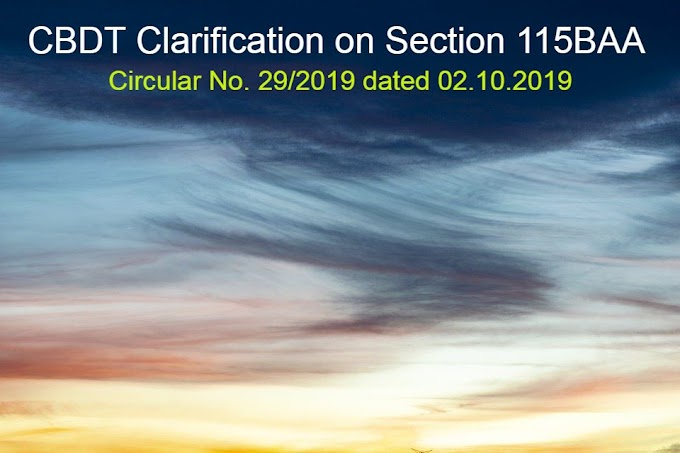 CBDT Circular on Section 115BBA on MAT Credit and Additional Depreciation