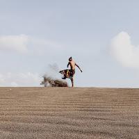 foto padang pasir di pantai parangtritis