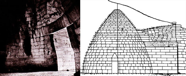 The History of Aegean Civilization | Early, Middle, and Late Bronze Age/Interior, Treasury of Atreus, Mycenae, Greece, ñ 1300-1250 B.C. 133. Section, Treasury of Atreus