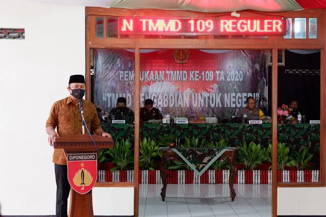 Bupati Karanganyar Resmi Buka TMMD Reguler 109