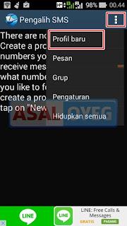 mengalihkan sms ke nomor lain di android