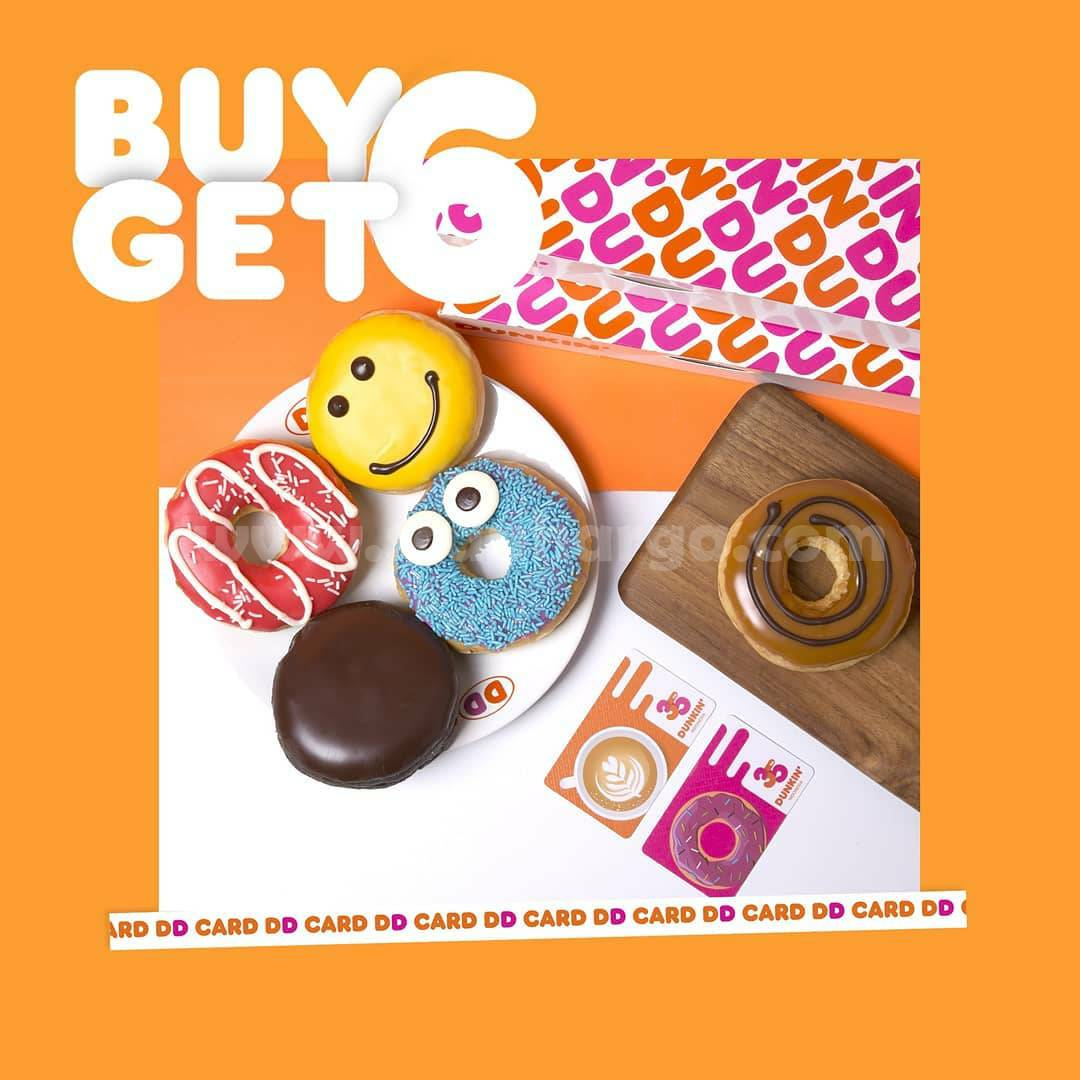 DUNKIN DONUTS Promo DD CARD PAYDAY (BUY 6 GET 6 All Donuts Classic)