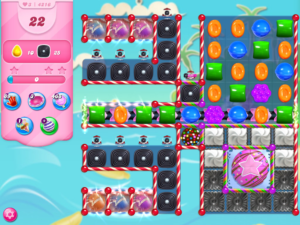 Candy Crush Saga level 4216
