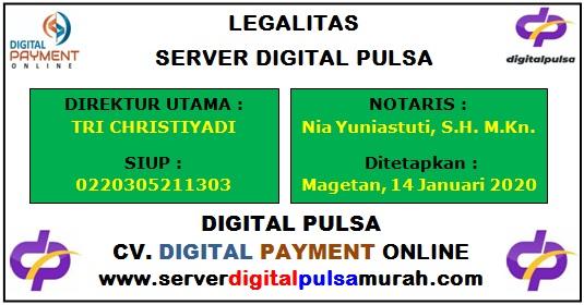 Legalitas Server Digital Pulsa