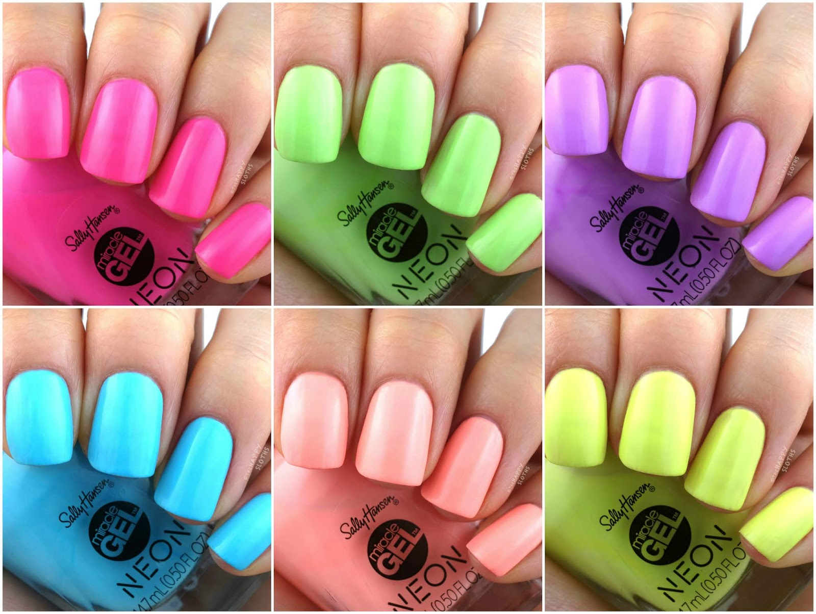 Sally Hansen | Miracle Gel Summer 2019 Neon Collection: Review and Swatches