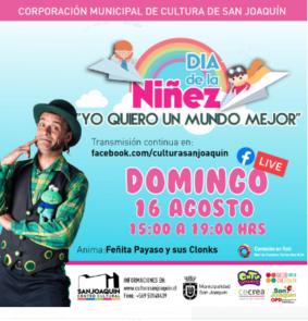 """""""Yo quiero un mundo mejor"""": Día de la Niñez en Centro Cultural San Joaquín"""