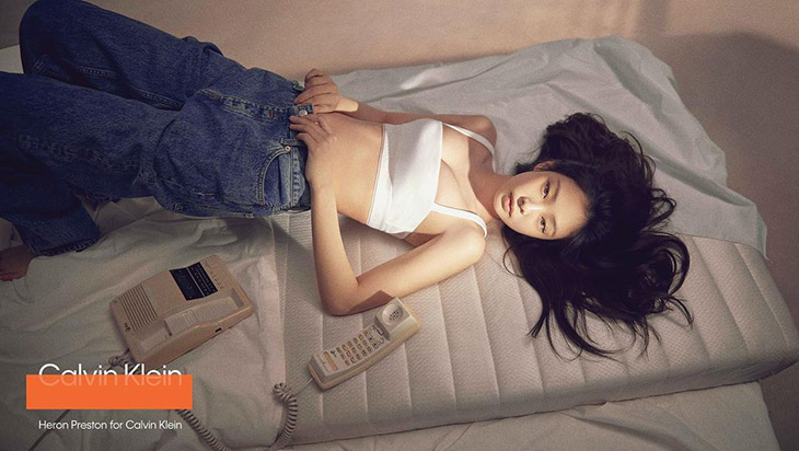 Calvin Klein's Drop 2 campaign featuring k-pop star Jennie