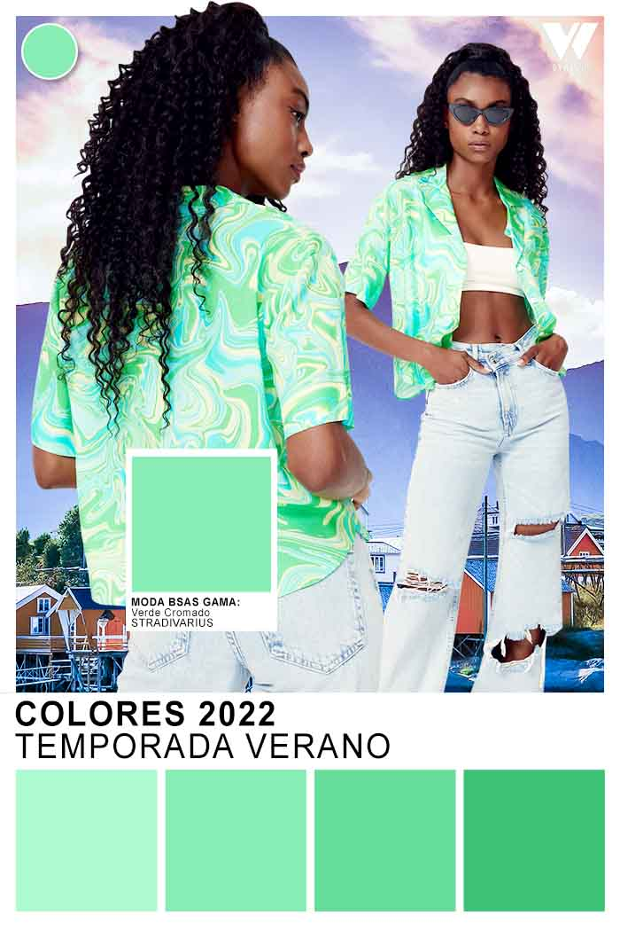 verde colores de moda 2022 verano