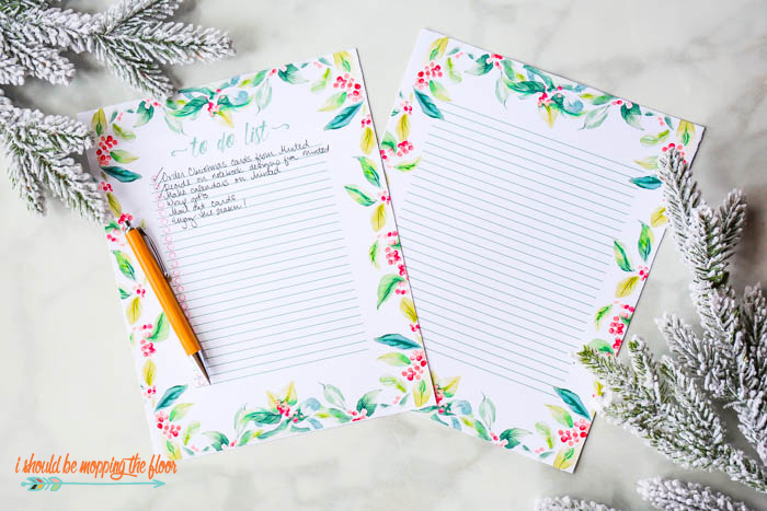 Christmas To Do List Printables