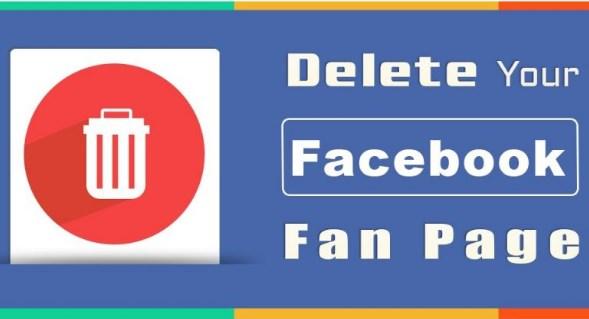 delete page facebook