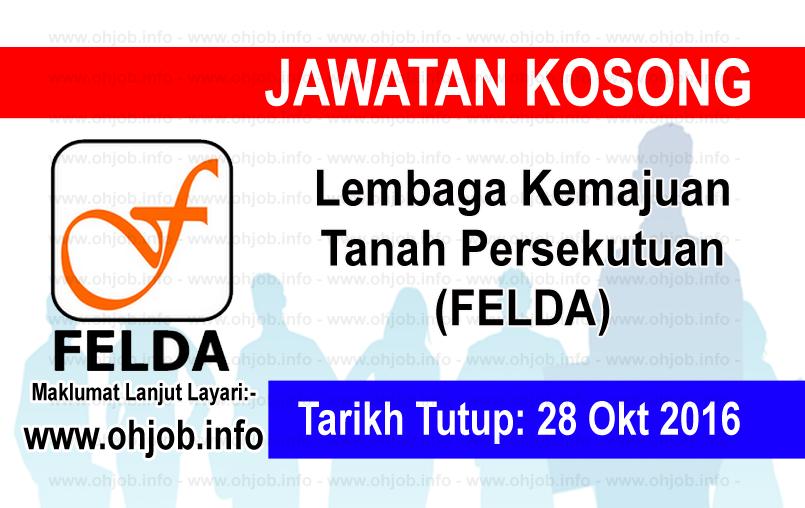 Jawatan Kerja Kosong Lembaga Kemajuan Tanah Persekutuan (FELDA) logo www.ohjob.info oktober 2016