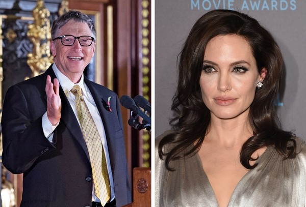 Angelina Jolie and Bill Gates are named world's most admired people in 2018, beating out Barack and Michelle Obama