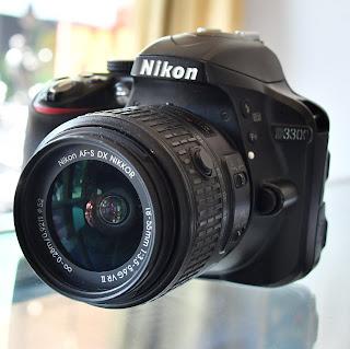 Kamera DSLR Nikon D3300 Lensa VR II Malang