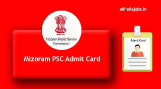 Mizoram PSC Assistant Divisional Accountant Admit Card