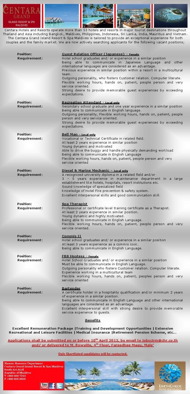 Job Maldives: Project Officer jobs in Maldives