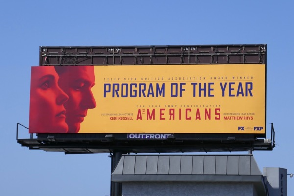 Americans 2018 Program of year Emmy billboard