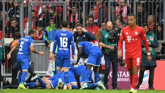 Bundesliga: Bayern Munich suffer first defeat against Hoffenheim