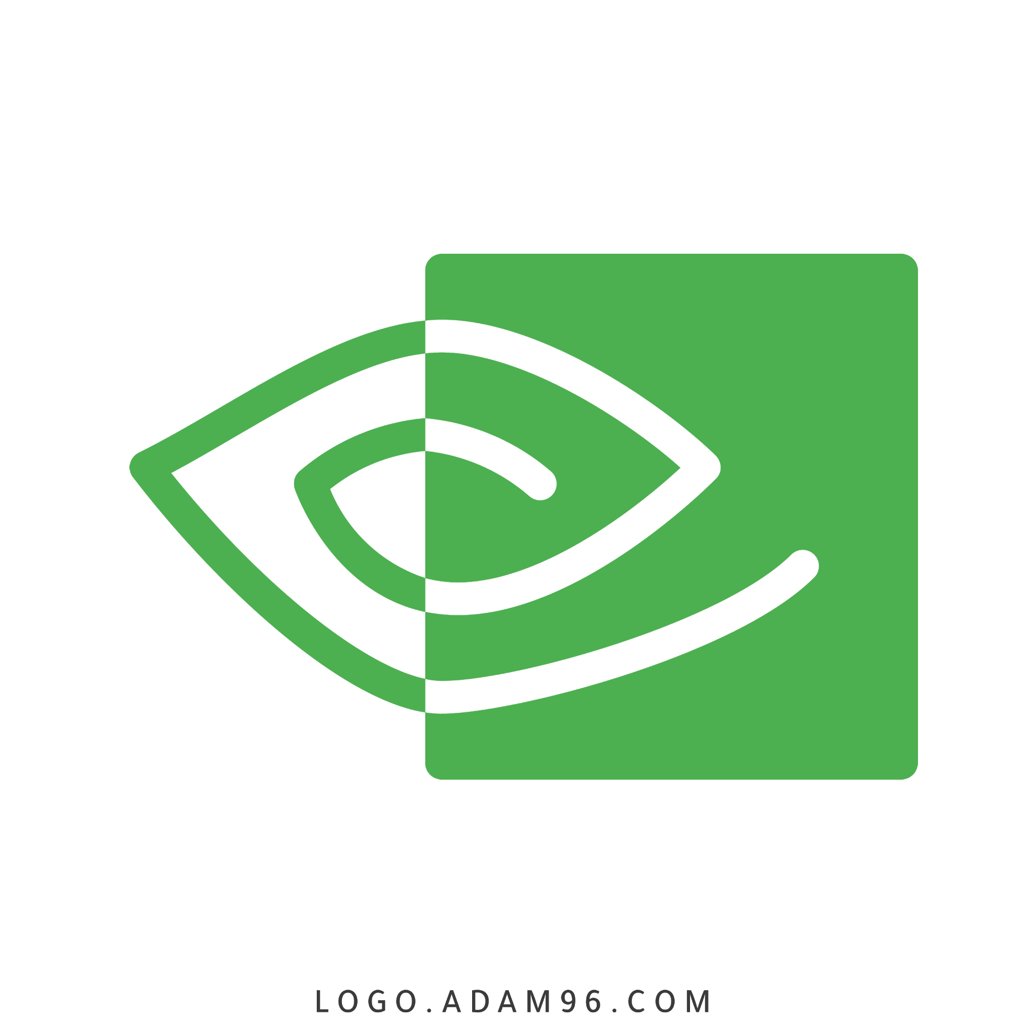 تحميل شعار شركة صناعة كروت الشاشة إنفيديا لوجو رسمي LOGO NVIDIA PNG