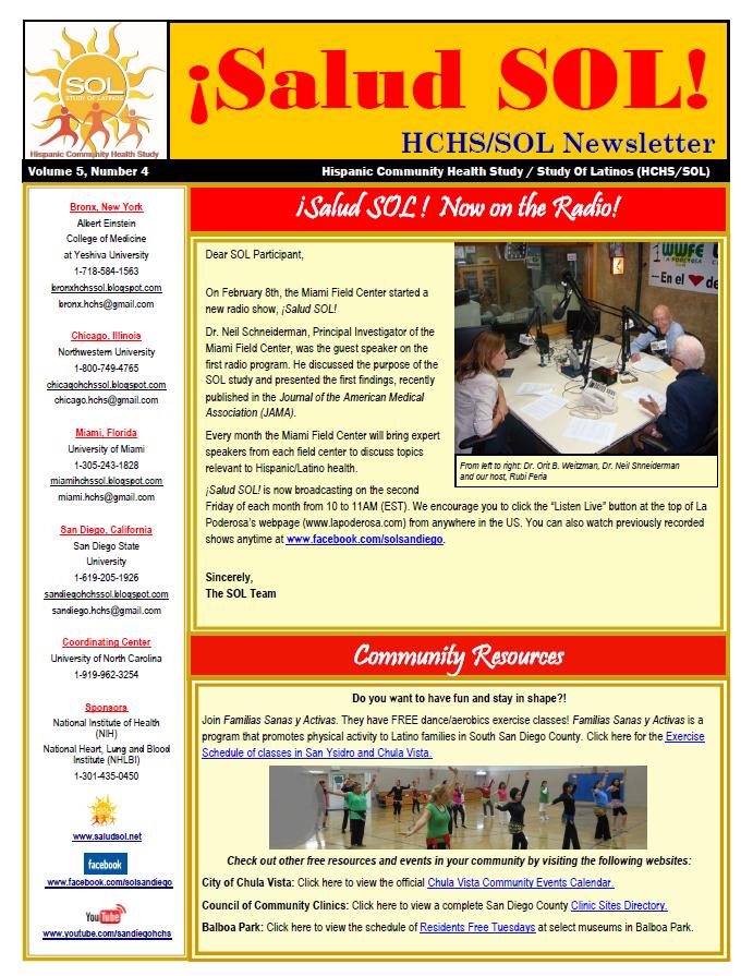 San Diego Field Center Hispanic Community Health Study