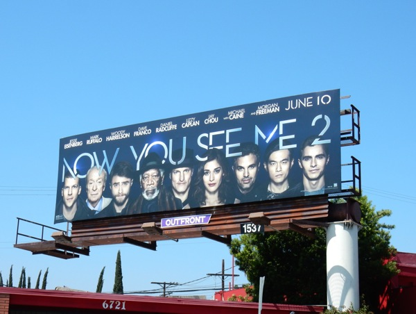 Now You See Me 2 movie billboard