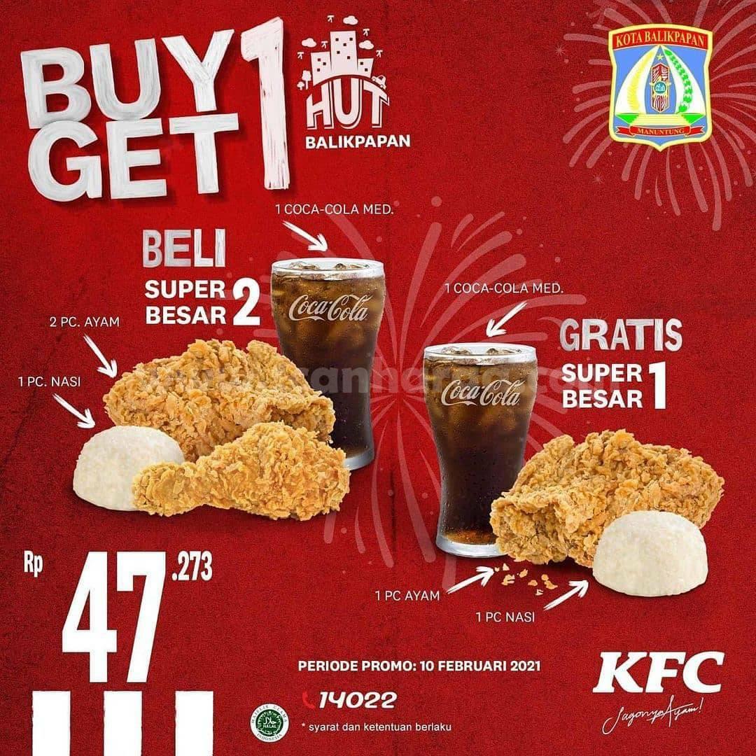 Promo KFC HUT BALIKPAPAN Beli 1 Dapat 1 Hanya Sehari Untuk Hari Ini 2021