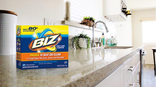 #ad Biz Stain Fighter powder helps clean kitchens