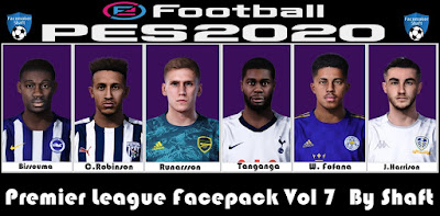 PES 2021 Premier League Facepack Vol 7 by Shaft
