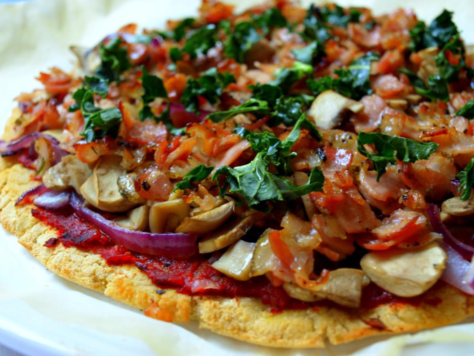 AIP Pizza farmerska z sosem pomidorowym (bez podmidorów)- bez glutenu, nabiału i psiankowatych
