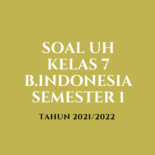 gambar Jawaban UH Bahasa Indonesia Kelas 7 Semester 1
