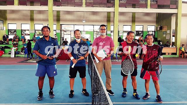 Juara Pool, Profesor Soetriono/Bayu Melenggang ke Babak 16 Besar Turnamen Tenis Seduluran Selawase Banjarnegara