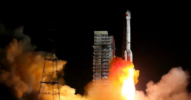 Long March 3B launches with the BeiDou-3 duo (M1 and M2) on November 5, 2017. Photo Credit: Yang Zhiyuan / Xinhua