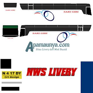 Livery bus titanium trisakti sari giri