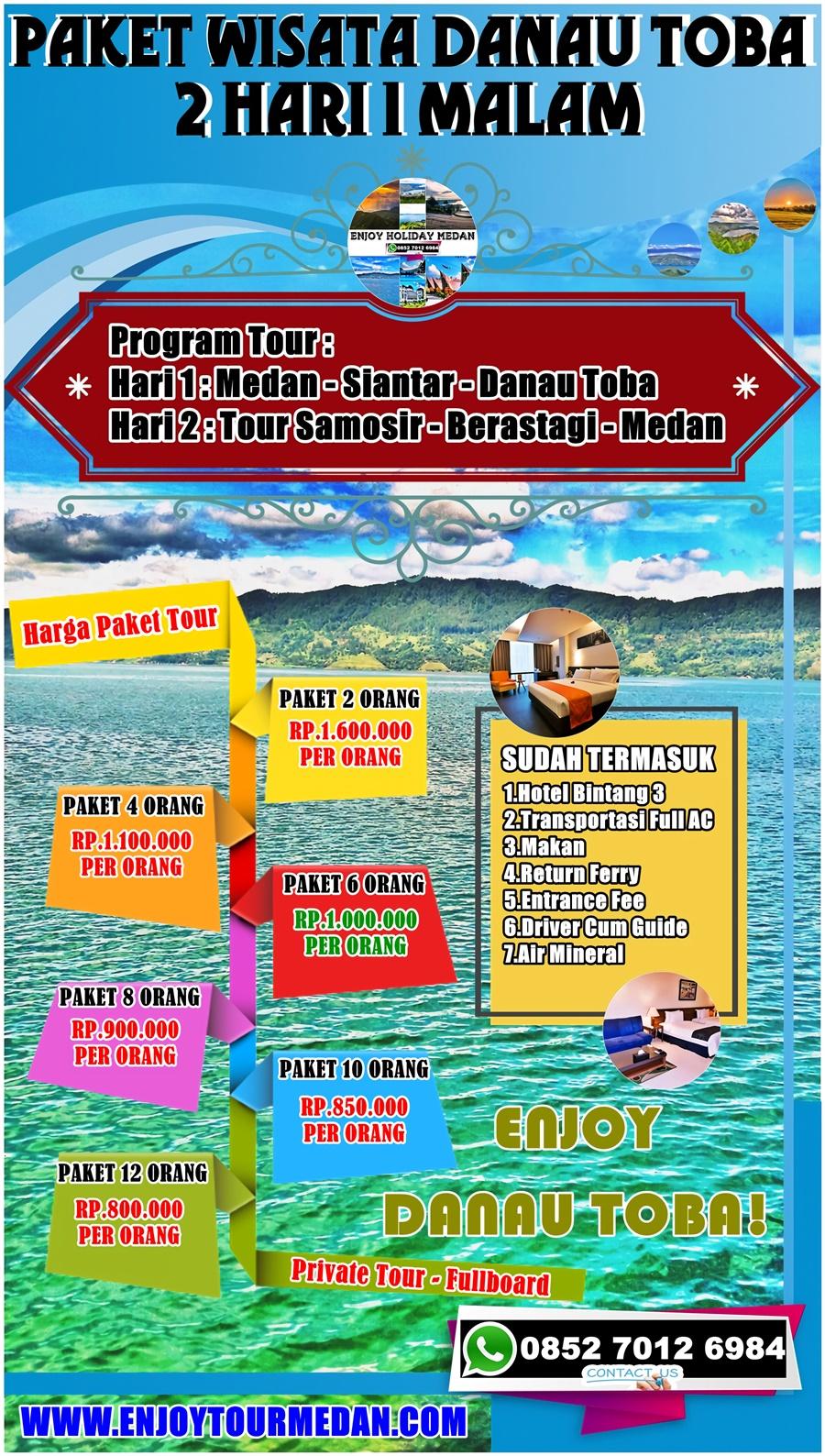 2 Hari 1 Malam Paket Wisata Danau Toba