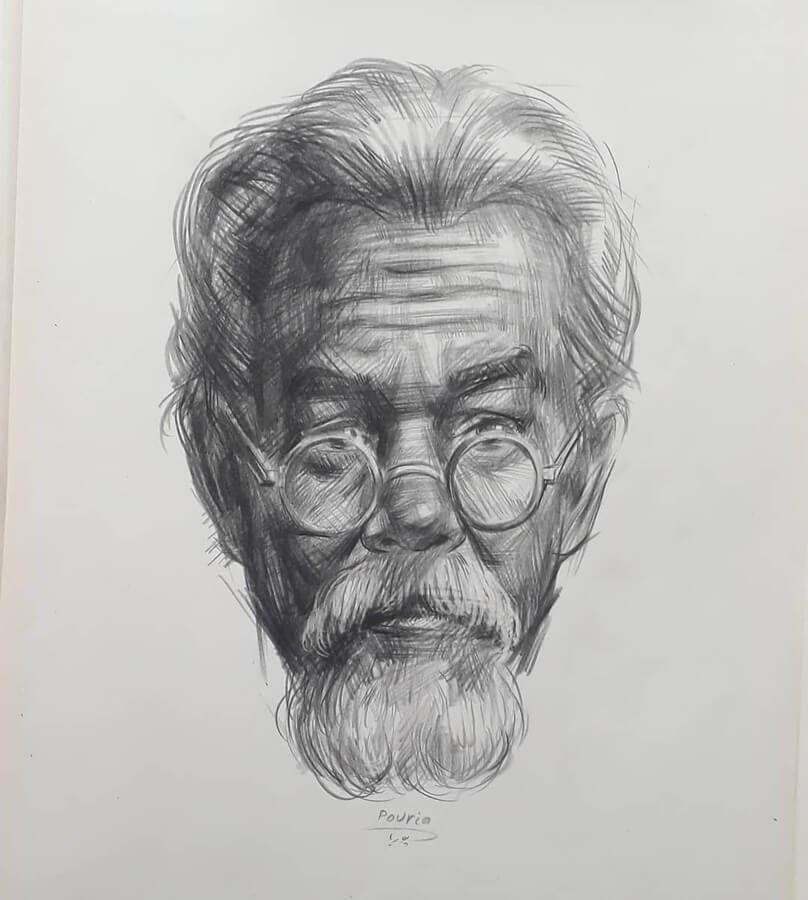 11-Portrait Drawings Pourianahaei-www-designstack-co
