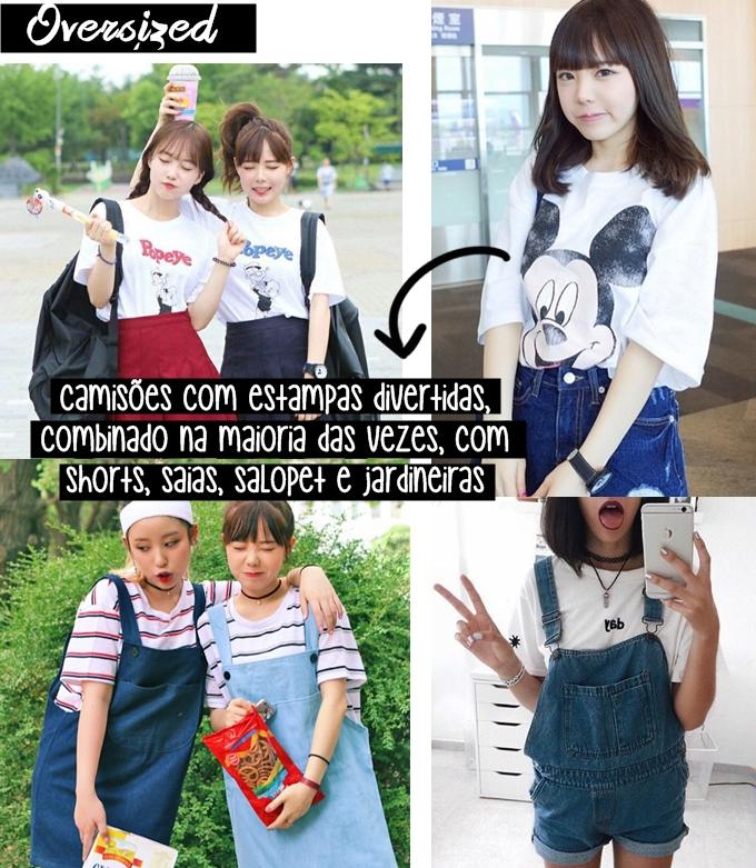 Moda das Coreanas: oversized - camisões
