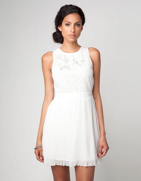 vestido de moda blanco corto