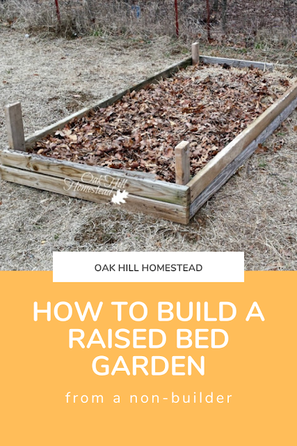 How to build a raised bed garden with no building experience.
