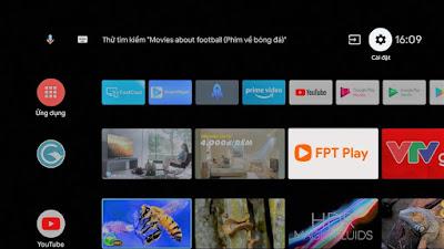 """Bước 1: Bạn mở ứng dụng """"FPT Play"""" trên Casper TV & tải ửng dụng."""