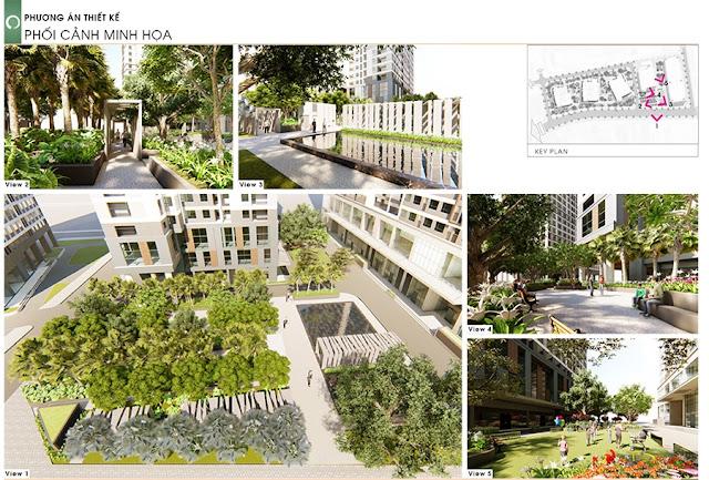 Cảnh quan Chung cư 43 Phạm Văn Đồng - Tòa HH