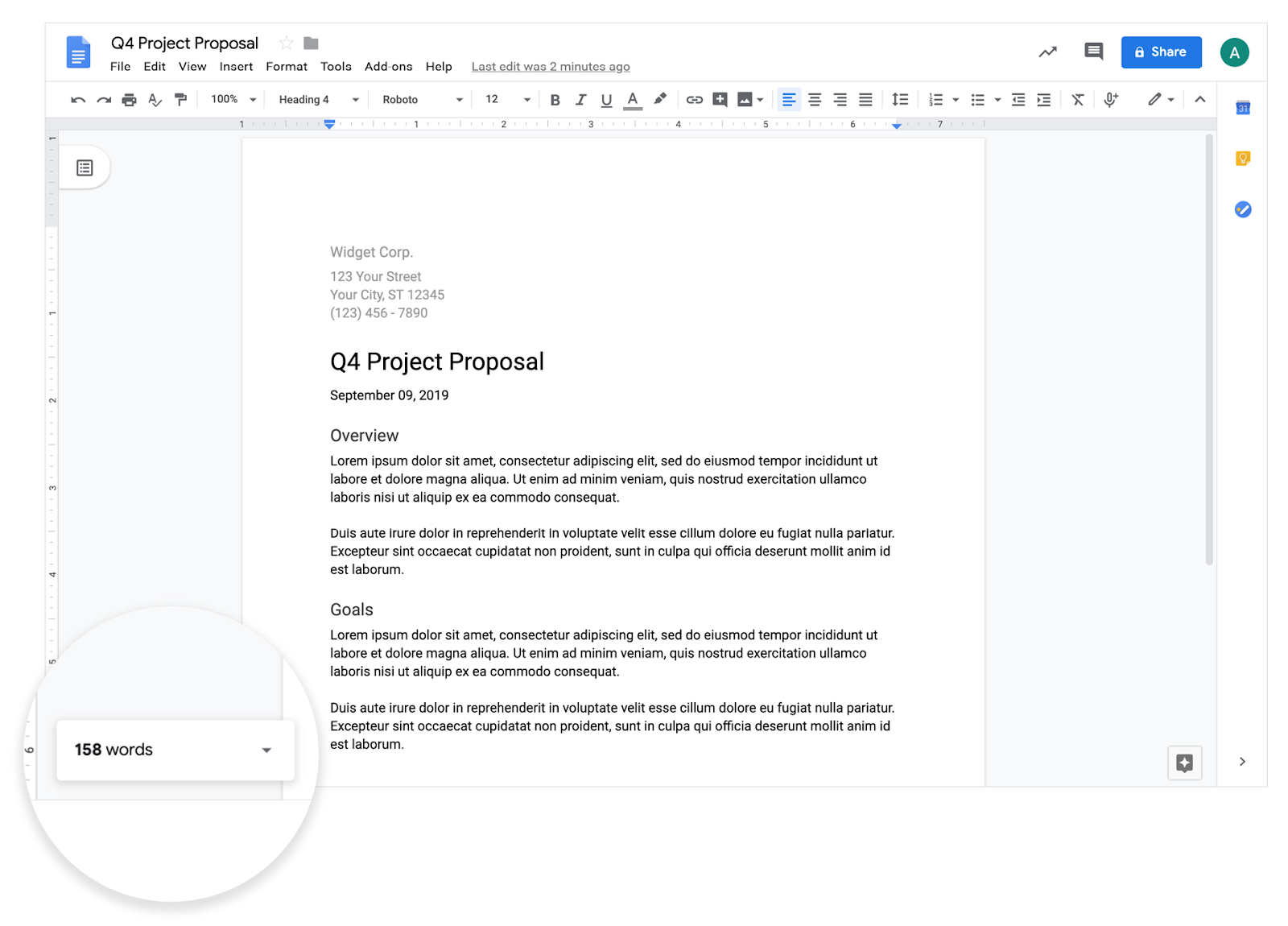 G Suite Updates Blog Display The Word Count As You Type In Google