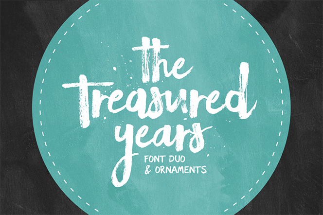 The Treasured Years Font Duo + Bonus - Set Sail Studios