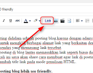 Cara membuat link di posting blog lebih SEO friendly