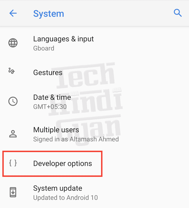 how to enable developer options on android device