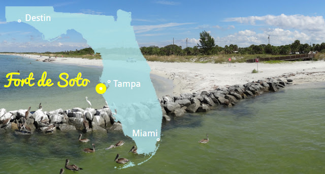 Die weißesten Strände Florida's - Fort de Soto State Park
