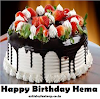 Happy Birthday Hema Cake HD images Download Free