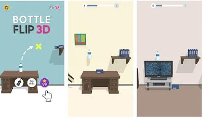 تحميل لعبة تحدي قلب الزجاجة Bottle Flip Jump 3D مهكرة للأندرويد