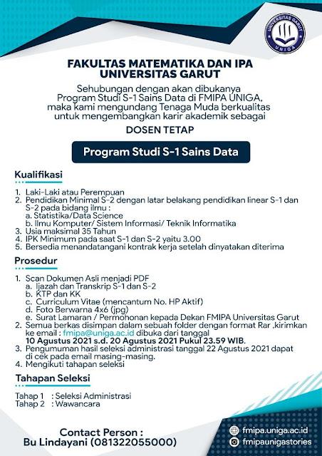 Lowongan Kerja Dosen Tetap Universitas Garut