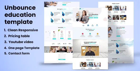 Best Educational Landing Page Template