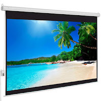 "100"" 4:3 Material Electric Motorized indoor Projector Screen +Remote"