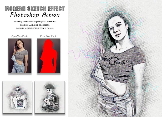 Modern Sketch Effect[Photoshop][Action][5404495]